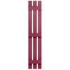Severe Weather 2-Pack Berry Board and Batten Vinyl Exterior Shutters (Common: 12-in x 59-in; Actual: 12.38-in x 59-in)