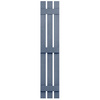 Severe Weather 2-Pack Blue Board and Batten Vinyl Exterior Shutters (Common: 12-in x 63-in; Actual: 12.38-in x 63-in)
