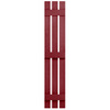 Severe Weather 2-Pack Cranberry Board and Batten Vinyl Exterior Shutters (Common: 12-in x 81-in; Actual: 12.38-in x 81-in)