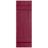 Severe Weather 2-Pack Berry Board and Batten Vinyl Exterior Shutters (Common: 14-in x 39-in; Actual: 14.31-in x 39-in)