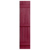 Severe Weather 2-Pack Berry Board and Batten Vinyl Exterior Shutters (Common: 14-in x 55-in; Actual: 14.31-in x 55-in)