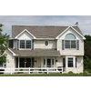 Severe Weather 2-Pack Black Louvered Vinyl Exterior Shutters (Common: 15-in x 55-in; Actual: 14.5-in x 54.5-in)