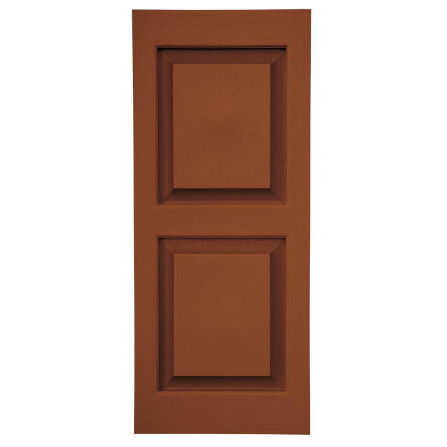 Shop Severe Weather 2 Pack Earthen Red Raised Panel Vinyl Exterior Shutters Common 59 In X 15