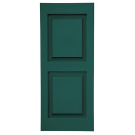 Shop Severe Weather 2 Pack Green Raised Panel Vinyl Exterior Shutters Common 15 In X 63 In