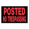 "The Hillman Group 8"" x 12"" Posted Red & White Plastic No Trespassing Sign"