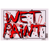 Hillman Sign Center 8-in x 12-in Wet Paint Sign