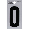 The Hillman Group 2-in Reflective Black House Number 0
