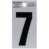 The Hillman Group 2-in Reflective Black House Number 7