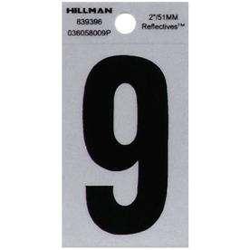 The Hillman Group 2-in Reflective Black House Number 9