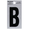 Hillman Sign Center 2-in Black and Silver House Letter B