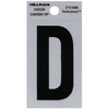 Hillman Sign Center 2-in Black and Silver Reflective House Letter D