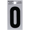 The Hillman Group 2-in Reflective Black House Letter O