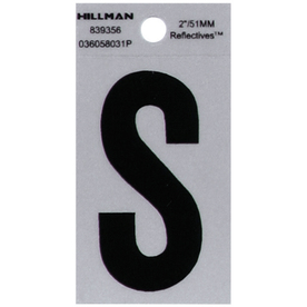 "The Hillman Group 2"" Black and Silver Vinyl Reflective Letter S"