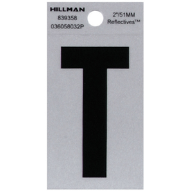 "The Hillman Group 2"" Vinyl Reflective Letter T"
