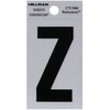 The Hillman Group 2-in Reflective Black House Letter Z