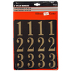 The Hillman Group 2-in Black and Gold Mylar Number Pack