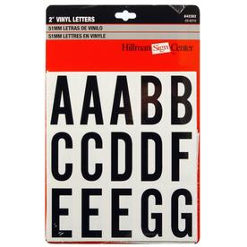 "Hillman Sign Center 2"" Black and White Vinyl Letters Pack"