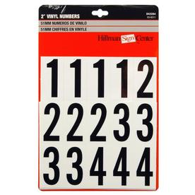 The Hillman Group 2-in Black and White Vinyl Number Pack