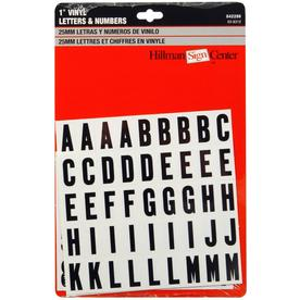 The Hillman Group 1-in Black and White Vinyl Number and Letter Set
