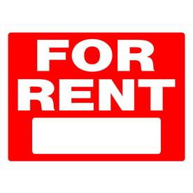 The Hillman Group 18-in x 24-in for Rent Sign