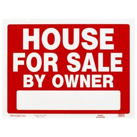 Hillman Sign Center 18-in x 24-in House for Sale By Owner Sign