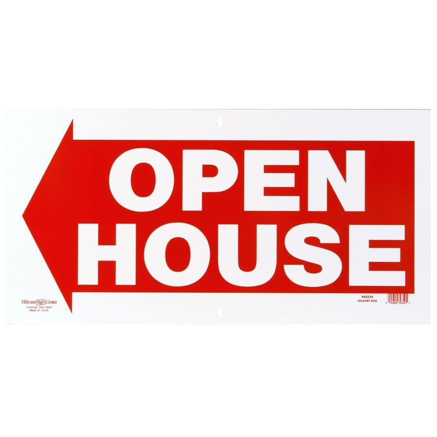 Shop hillman sign center 12 in x 24 in open house sign at for House open