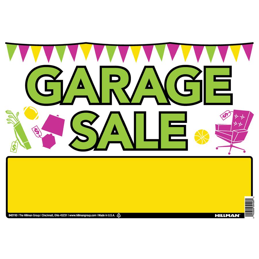 Shop Hillman Sign Center 10 In X 14 In Garage Sale Sign At