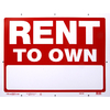 Hillman Sign Center 24-in x 18-in Rent to Own Sign