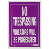 The Hillman Group 14-in x 10-in Trespassing Sign