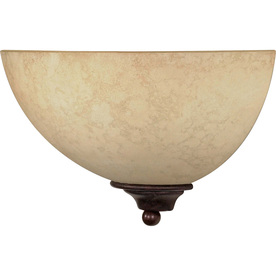 Tapas 13.5-in W 1-Light Old Bronze Pocket Hardwired Wall Sconce