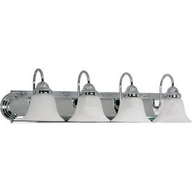 4-Light Polished Chrome Bathroom Vanity Light