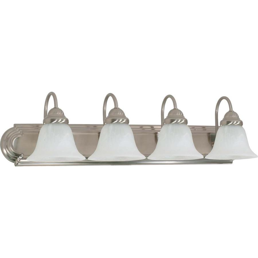 light ballerina brushed nickel bathroom vanity light at. Black Bedroom Furniture Sets. Home Design Ideas