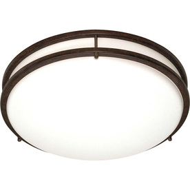 24-in W Old Bronze Ceiling Flush Mount