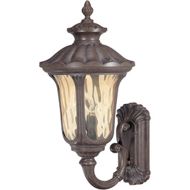 28-in Fruitwood Bronze Outdoor Wall Light