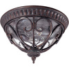 13-1/2-in Burlwood Outdoor Flush-Mount Light
