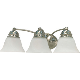 3-Light Empire Brushed Nickel Bathroom Vanity Light