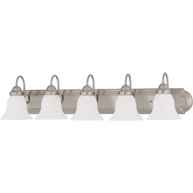 5-Light Brushed Nickel Bathroom Vanity Light