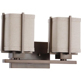 2-Light Logan Hazel Bronze Bathroom Vanity Light