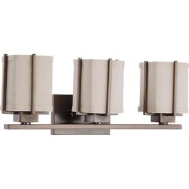 3-Light Logan Hazel Bronze Bathroom Vanity Light