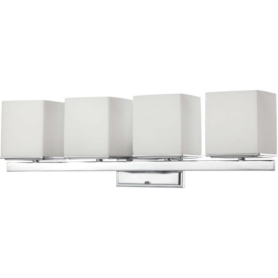 Shop 4-Light Bento Polished Chrome Bathroom Vanity Light at Lowes.com