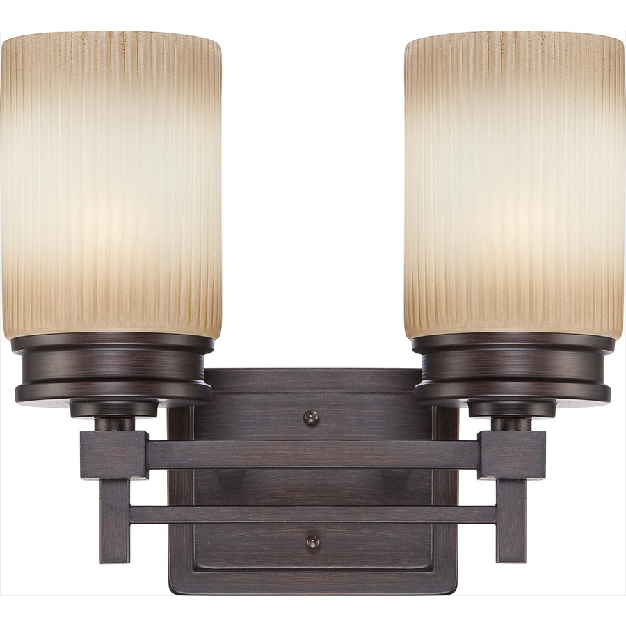 Lowes Clearance Vanity Lights : Shop 2-Light Wright Prairie Bronze Bathroom Vanity Light at Lowes.com