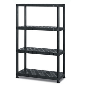 Blue Hawk 55-in H x 34-in W x 14-in D 4-Tier Plastic Freestanding Shelving Unit