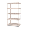enviro elements 72-in H x 36-in W x 24-in D 5-Tier Plastic Freestanding Shelving Unit