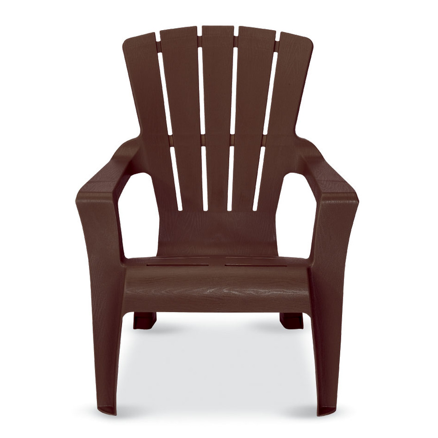 ... US Leisure Cappuccino Resin Stackable Adirondack Chair at Lowes.com