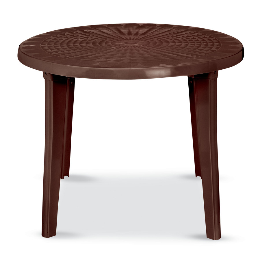 Shop US Leisure 38 in X Resin Round Patio Dining Table At Lowescom