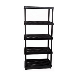 Style Selections 72-in H x 36-in W x 18-in D 5-Tier Plastic Freestanding Shelving Unit