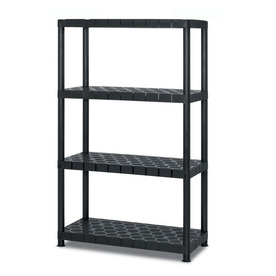 Blue Hawk 55-in H x 34-in W x 16-in D 4-Tier Plastic Freestanding Shelving Unit