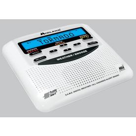 Midland Emergency Weather Alert Radio with Alarm Clock