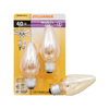SYLVANIA 2-Pack 40-Watt Medium Base (E-26) Amber Dimmable Decorative Incandescent Light Bulbs