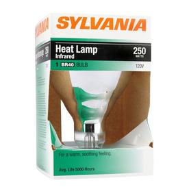 SYLVANIA 250-Watt BR40 Medium Base (E-26) Soft White Dimmable Incandescent Heat Lamp Light Bulb